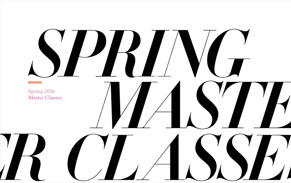 2016 Spring Master Classes