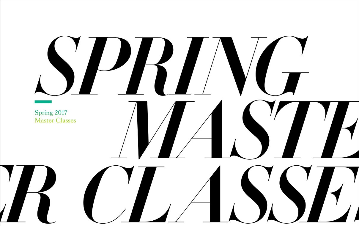 2017 Spring Master Classes